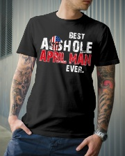 BEST ASSHOLE APRIL MAN EVER Classic T-Shirt lifestyle-mens-crewneck-front-6
