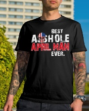 BEST ASSHOLE APRIL MAN EVER Classic T-Shirt lifestyle-mens-crewneck-front-8