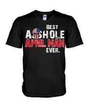 BEST ASSHOLE APRIL MAN EVER V-Neck T-Shirt thumbnail