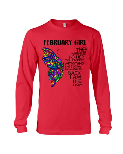 FEBRUARY GIRL - SHE WHISPERED BACK I AM THE STORM