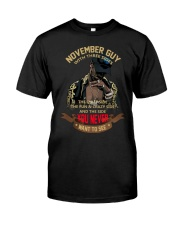 NOVEMBER GUY WITH THREE SIDES Classic T-Shirt front