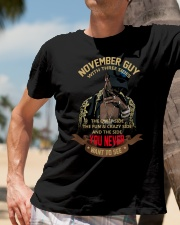 NOVEMBER GUY WITH THREE SIDES Classic T-Shirt lifestyle-mens-crewneck-front-11