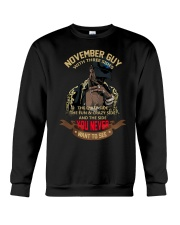 NOVEMBER GUY WITH THREE SIDES Crewneck Sweatshirt thumbnail