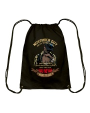 NOVEMBER GUY WITH THREE SIDES Drawstring Bag thumbnail