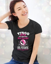 VIRGO LADY - THE SWEETEST MOST BEAUTIFUL Ladies T-Shirt lifestyle-holiday-womenscrewneck-front-1