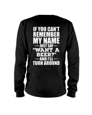 ''WANT A BEER'' - BEER TIME Long Sleeve Tee thumbnail