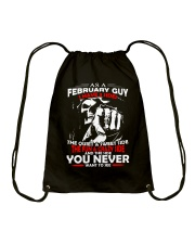 AS A FEBRUARY GUY - I HAVE 3 SIDES Drawstring Bag thumbnail