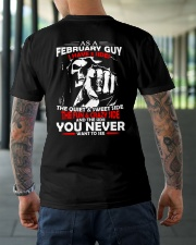 AS A FEBRUARY GUY - I HAVE 3 SIDES Classic T-Shirt lifestyle-mens-crewneck-back-3