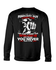AS A FEBRUARY GUY - I HAVE 3 SIDES Crewneck Sweatshirt thumbnail