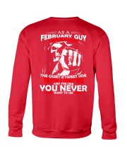AS A FEBRUARY GUY - I HAVE 3 SIDES Crewneck Sweatshirt back