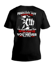 AS A FEBRUARY GUY - I HAVE 3 SIDES V-Neck T-Shirt thumbnail