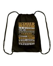 DECEMBER BORN Drawstring Bag thumbnail