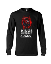 KINGS ARE BORN IN AUGUST Long Sleeve Tee tile