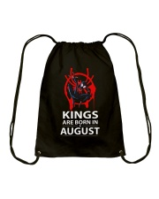 KINGS ARE BORN IN AUGUST Drawstring Bag tile