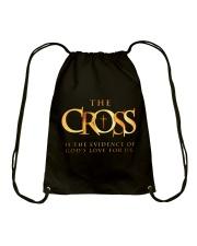 THE CROSS - WARRIOR OF CHRIST Drawstring Bag thumbnail