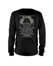 NEVER UNDERESTIMATE A MAN WHO WAS BORN IN OCTORBER Long Sleeve Tee thumbnail
