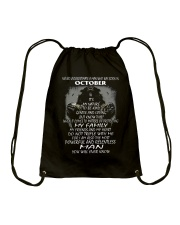 NEVER UNDERESTIMATE A MAN WHO WAS BORN IN OCTORBER Drawstring Bag thumbnail