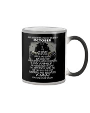 NEVER UNDERESTIMATE A MAN WHO WAS BORN IN OCTORBER Color Changing Mug thumbnail
