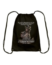 DEVIL WHISPERED - WARRIOR OF CHRIST Drawstring Bag thumbnail