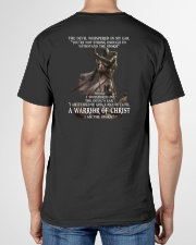 DEVIL WHISPERED - WARRIOR OF CHRIST V-Neck T-Shirt garment-vneck-tshirt-back-02