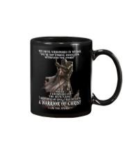 DEVIL WHISPERED - WARRIOR OF CHRIST Mug thumbnail