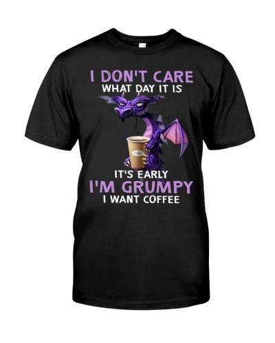 IM GRUMPY I WANT COFFEE - DRAGON