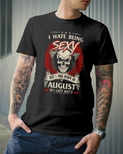 I HATE BEING SEXY BUT I WAS BORN IN AUGUST Classic T-Shirt lifestyle-mens-crewneck-front-6