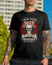 I HATE BEING SEXY BUT I WAS BORN IN AUGUST Classic T-Shirt lifestyle-mens-crewneck-front-8