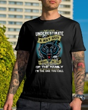 NEVER UNDERESTIMATE A MAY GUY Classic T-Shirt lifestyle-mens-crewneck-front-8