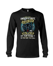 NEVER UNDERESTIMATE A MAY GUY Long Sleeve Tee thumbnail