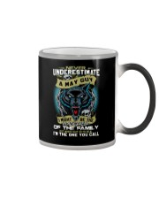 NEVER UNDERESTIMATE A MAY GUY Color Changing Mug thumbnail