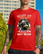 AUGUST GUY MAY SEEM QUIET AND RESERVED Classic T-Shirt lifestyle-mens-crewneck-front-8