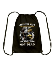 AUGUST GUY MAY SEEM QUIET AND RESERVED Drawstring Bag thumbnail