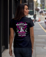 WOMEN OF FAITH - WARRIOR OF CHRIST Ladies T-Shirt lifestyle-women-crewneck-back-1