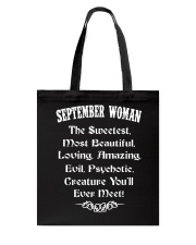 SEPTEMBER WOMAN - YOU WILL EVER MEET Tote Bag thumbnail