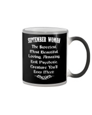 SEPTEMBER WOMAN - YOU WILL EVER MEET Color Changing Mug thumbnail