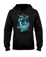 MAY GIRL BELIEVE THERE ARE ANGELS AMONG US Hooded Sweatshirt thumbnail