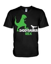 DADDY SAURUS REX V-Neck T-Shirt thumbnail