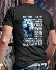 APRIL GUY NOT ONE TO MESS WITH Classic T-Shirt lifestyle-mens-crewneck-back-2