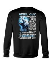 APRIL GUY NOT ONE TO MESS WITH Crewneck Sweatshirt thumbnail