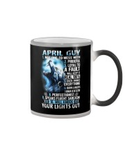 APRIL GUY NOT ONE TO MESS WITH Color Changing Mug thumbnail