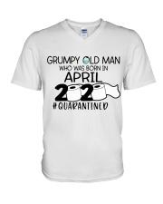 APRIL GRUMPY OLD MAN 2020 QUARANTINED V-Neck T-Shirt thumbnail
