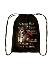 AUGUST MAN - I AM A SON OF GOD Drawstring Bag thumbnail