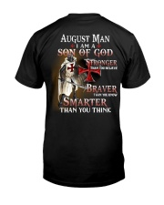AUGUST MAN - I AM A SON OF GOD Classic T-Shirt back