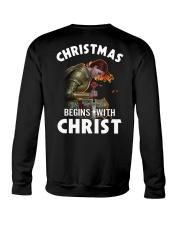 CHRISTMAS BEGINS WITH CHRIST - WARRIOR OF CHRIST Crewneck Sweatshirt thumbnail