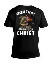 CHRISTMAS BEGINS WITH CHRIST - WARRIOR OF CHRIST V-Neck T-Shirt thumbnail