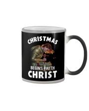 CHRISTMAS BEGINS WITH CHRIST - WARRIOR OF CHRIST Color Changing Mug thumbnail