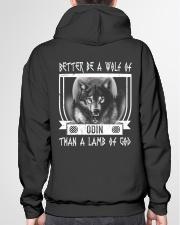 VIKINGS VALHALLA - WOLF OF ODIN Hooded Sweatshirt garment-hooded-sweatshirt-back-04