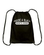INSIDE A BLACK MAN'S MIND - AFRICAN AMERICAN Drawstring Bag thumbnail