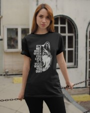 WOLVES - ITS NOT OVER Classic T-Shirt apparel-classic-tshirt-lifestyle-19